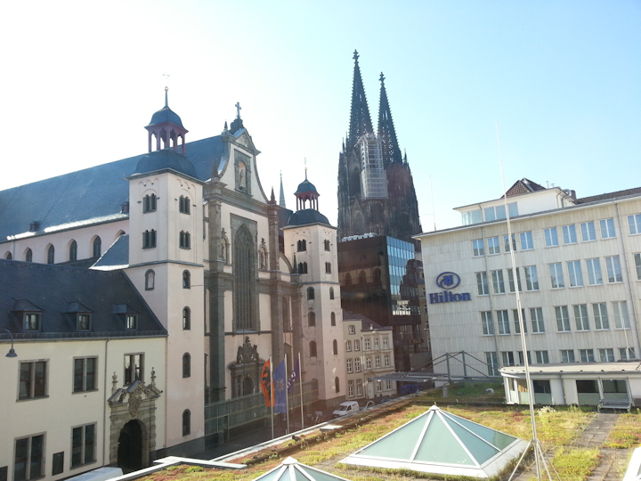 Cologne, view from Hilton