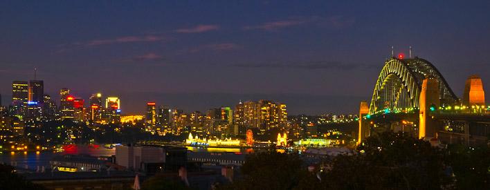 harbour bridge at night-Best Sydney Wedding Photography Locations