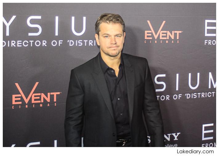 Matt Damon - Elysium australis premiere