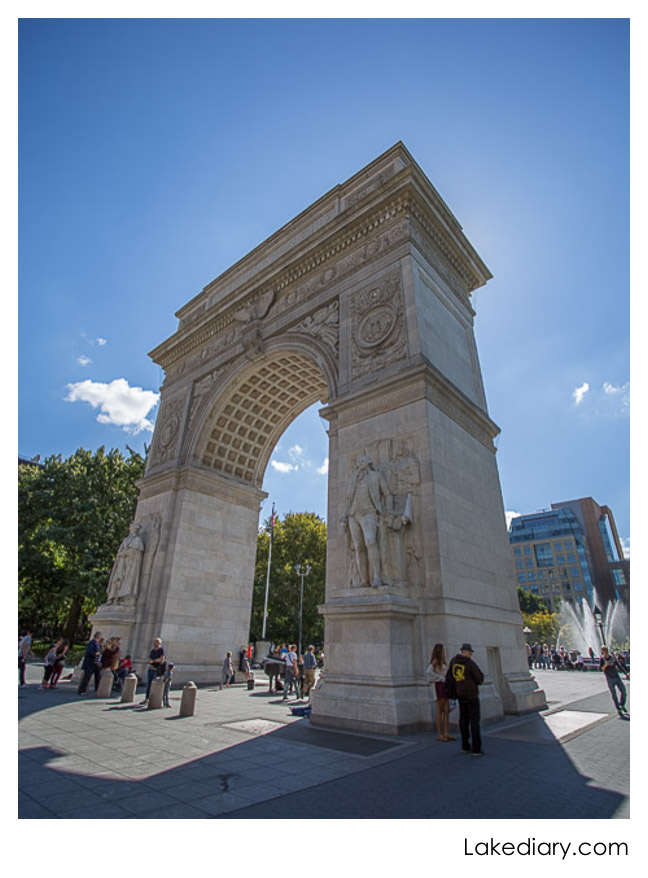 NYC Greenwich Village arch in washington square park