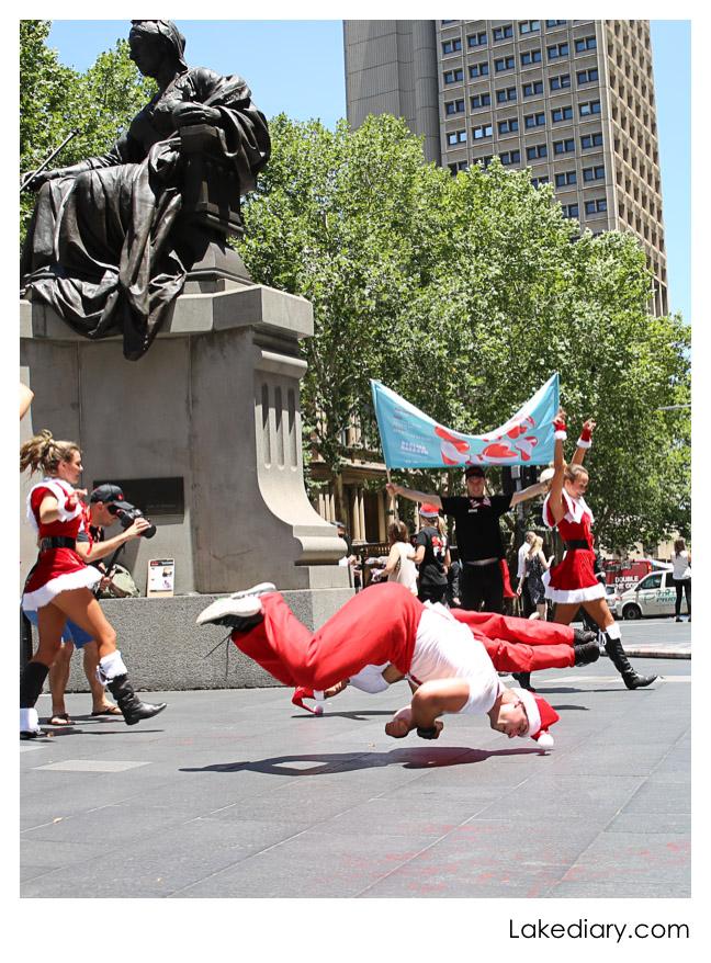Santa Flash Mob  town hall