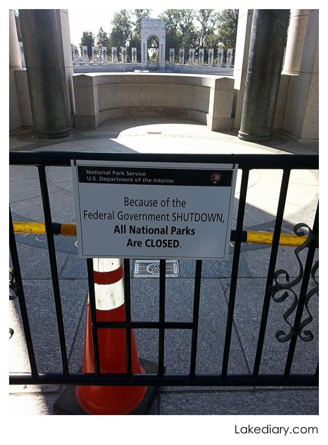 ww2 memorial shut down