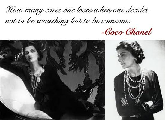 chanel quotes - become someone