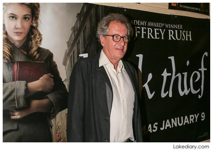 The Book Thief Summary geoffery rush at the book thief screening