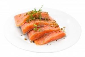 Healthy Food Shopping List salmon