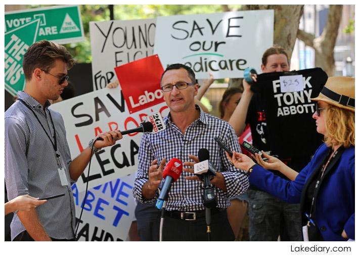 save our medicare rally - Greens Senator Richard Di Natale