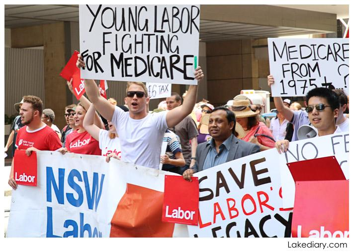 save our medicare rally mach signs