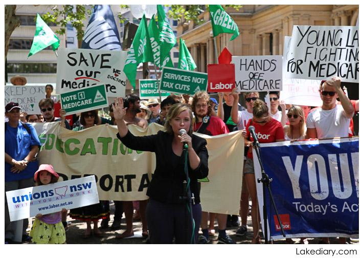 save our medicare rally speaker linda