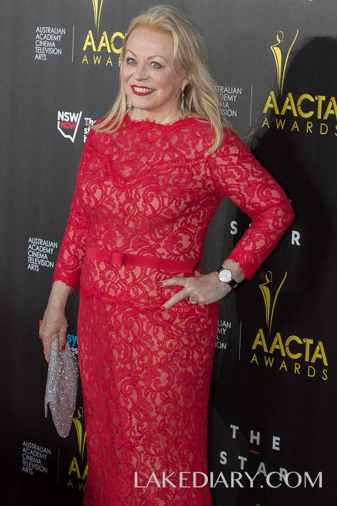 Jackie Weaver AACTA red dresses-001-2