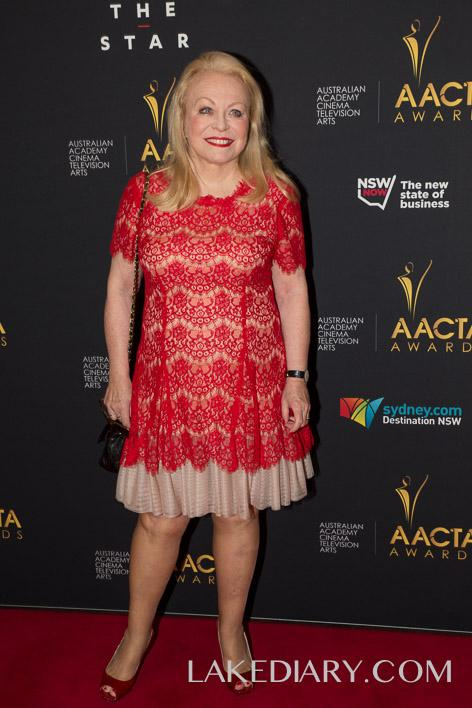Jackie Weaver AACTA red dresses-001-5