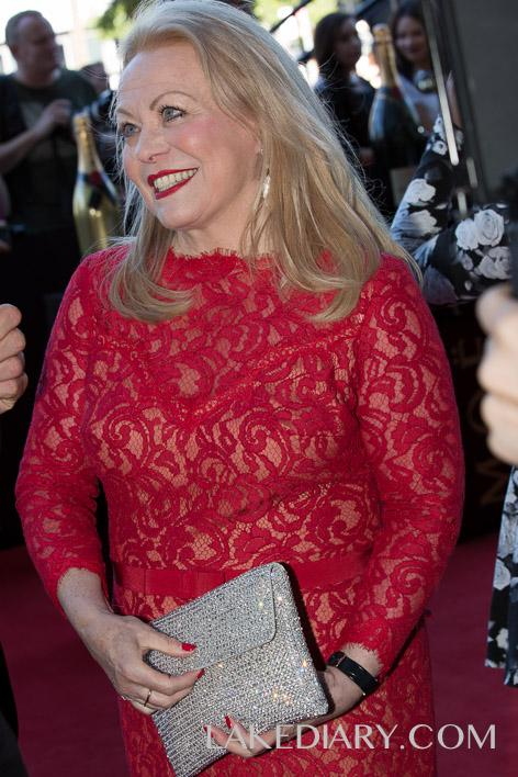 Jackie Weaver AACTA red dresses-001