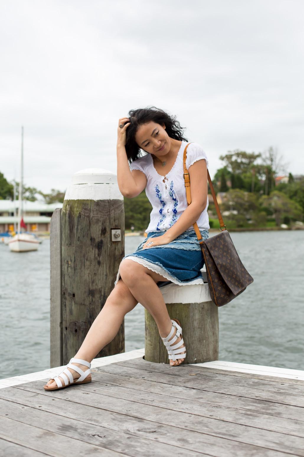 by the wharf denim skirt-2