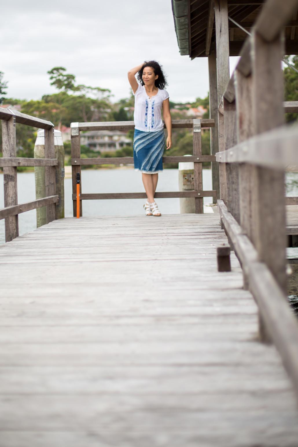 by the wharf denim skirt-5