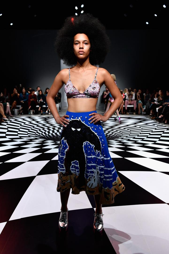 SYDNEY, AUSTRALIA - MAY 18: A model walks the runway during the Emma Mulholland show at Mercedes-Benz Fashion Week Resort 17 Collections at Carriageworks on May 18, 2016 in Sydney, Australia. (Photo by Stefan Gosatti/Getty Images)