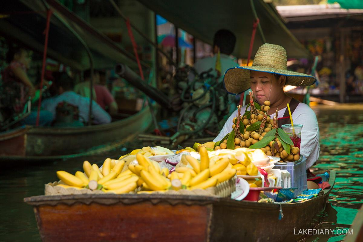 Damnoen Saduak Floating Market fruit seller (1 of 1)