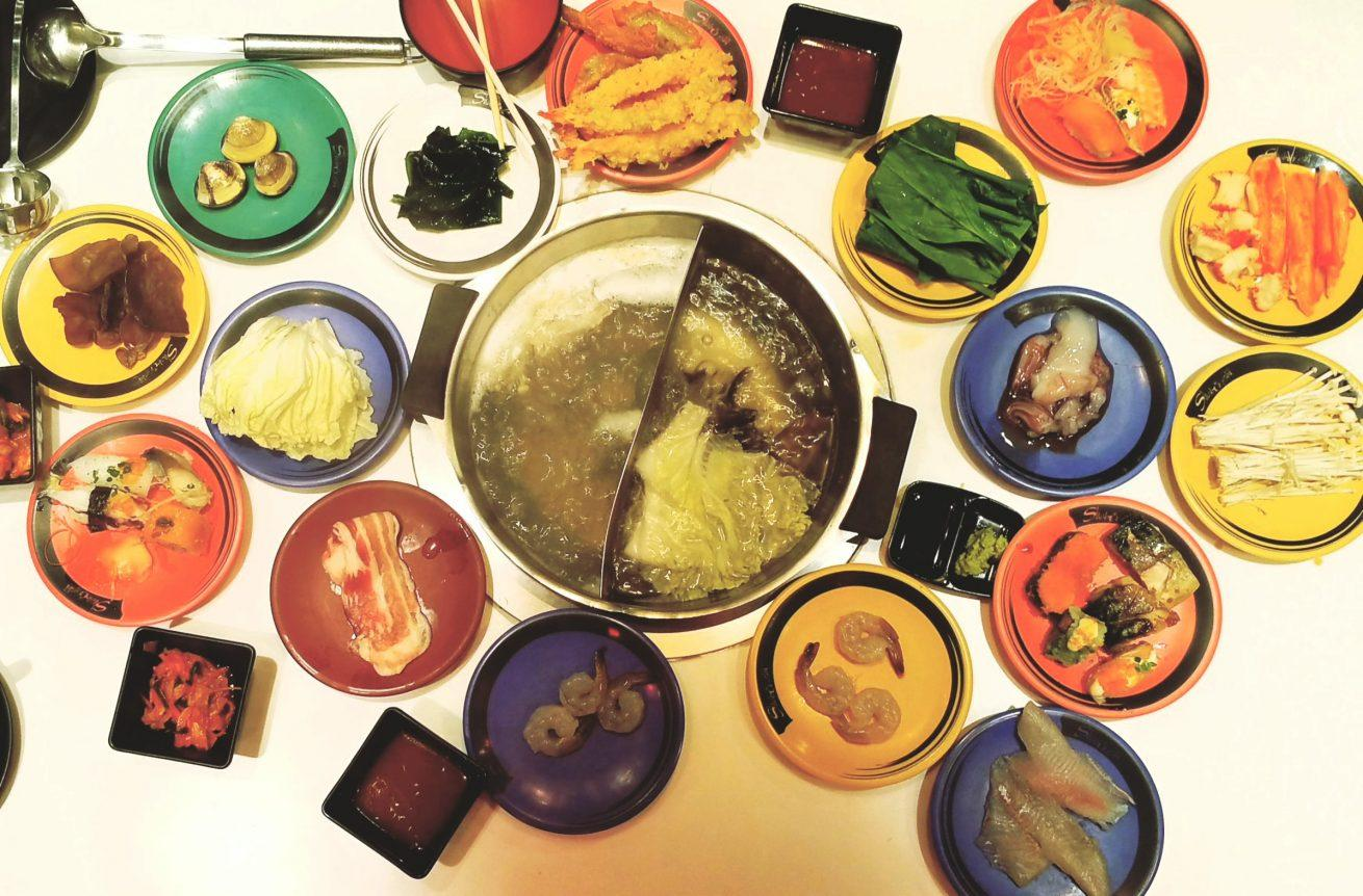 Japanese hotpot, sushi buffet