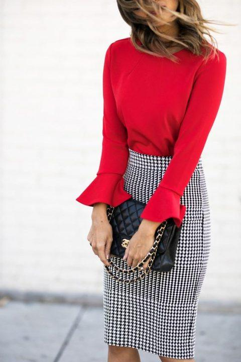 winter office outfit ideas add colors