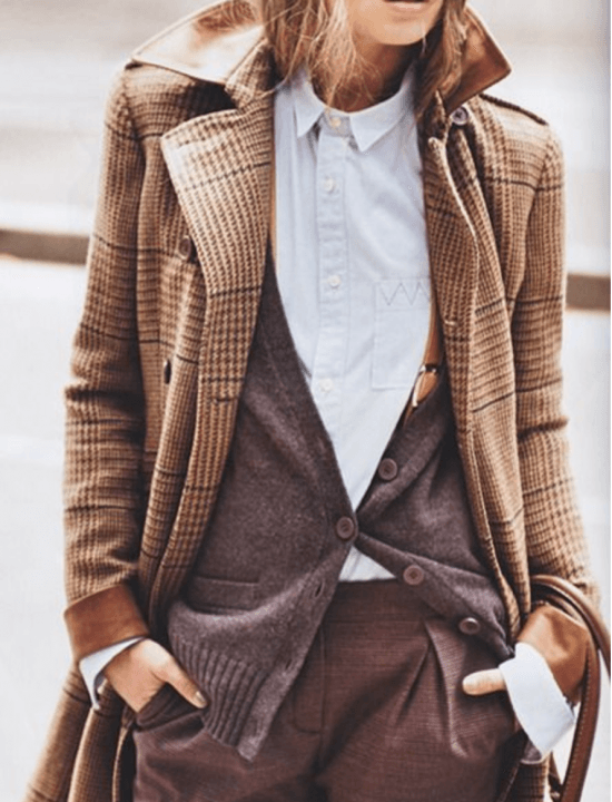Winter Office Outfit Ideas - borrowed from boys