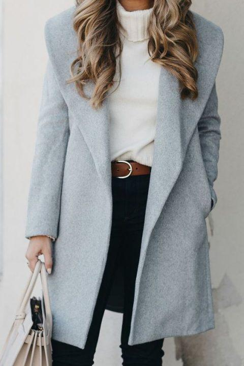 winter office outfit ideas coat