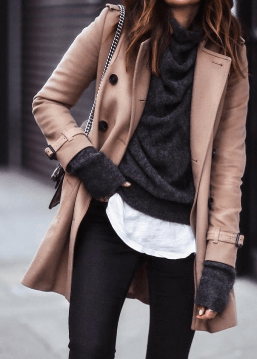 winter office outfit ideas layering