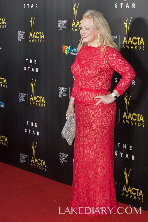 Jackie Weaver AACTA red dresses-002